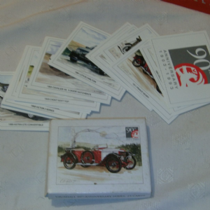 Vauxhall 90th Anniversary series 25 Cards car trading cards